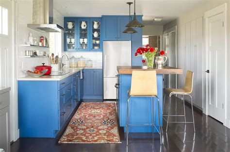 Colorful Cabinets by Small But Luxurious Kitchens Baths Traditional Home