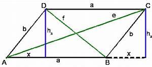 Flächeninhalt Berechnen Parallelogramm : parallelogramm berechnen der diagonalen onlinemathe ~ Themetempest.com Abrechnung