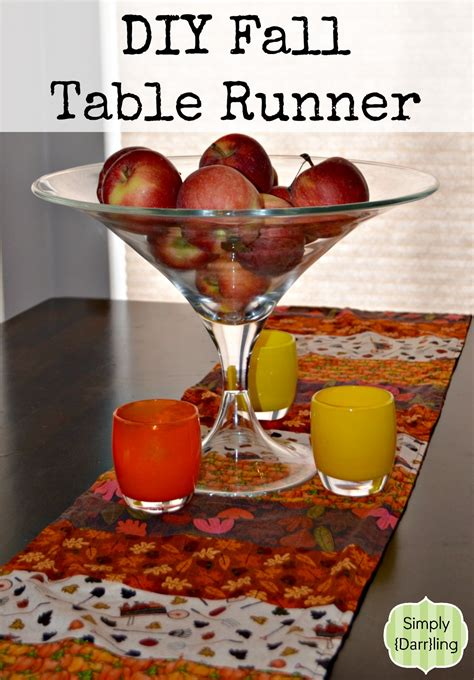 fall table runners to make diy fall table runner simply darr ling