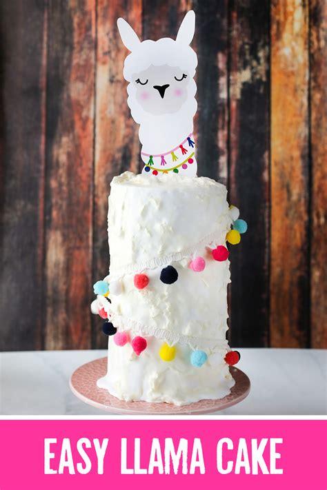 llama cake recipe  tutorial llama cake topper