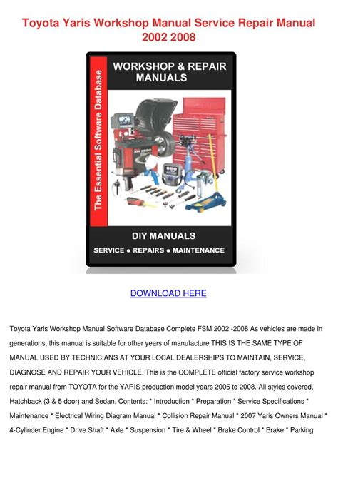online service manuals 2007 toyota yaris parking system toyota yaris workshop manual service repair m by susannesingleton issuu