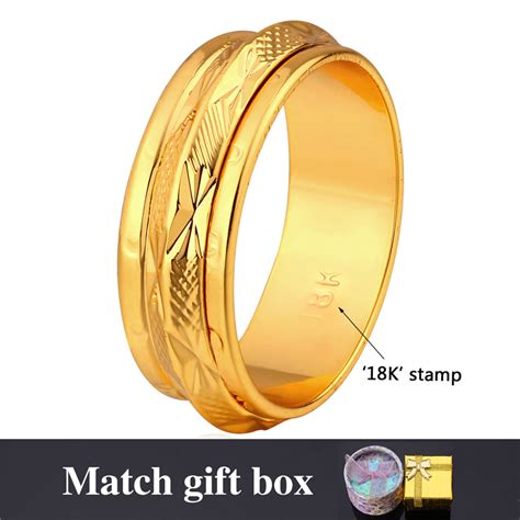 aliexpress buy new arrival 18k real gold plated aliexpress buy 18k st rings trendy jewelry for
