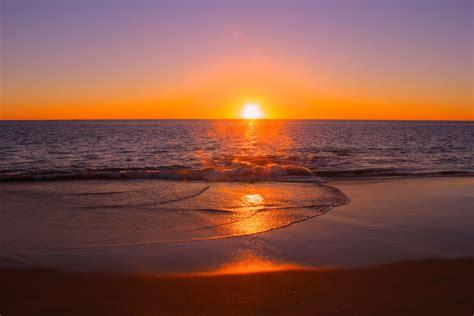 Sunset Fishing At Preston Beach Western Australia
