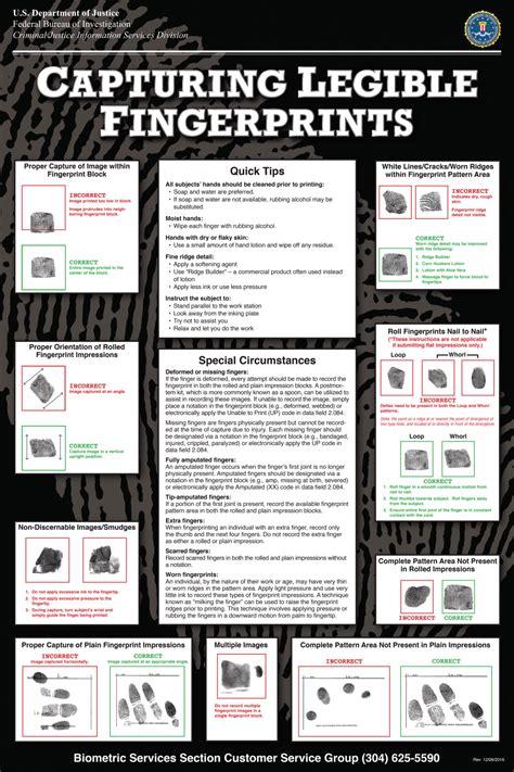 capturing legible fingerprints fbi