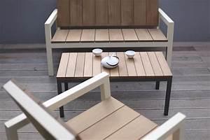 Table Basse Jardin Metal : table basse laurdede rectangulaire 90 cm pour jardin en m tal acier de couleur et en bois massif ~ Teatrodelosmanantiales.com Idées de Décoration