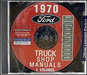 1970 Ford Truck Repair Shop Manual Cd Rom Pickup Bronco