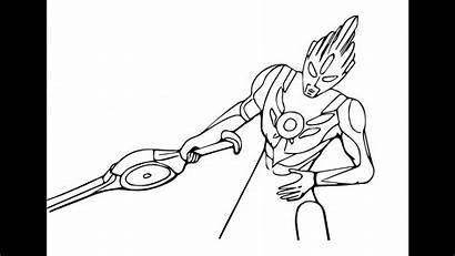 Ultraman Orb Cara Mewarnai Gambar Hitam Putih