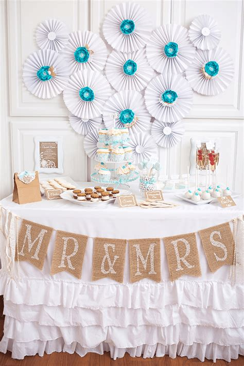 party feature lace pearls bridal shower pizzazzerie
