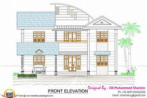 Modern 237 sq-m house plan - Kerala home design and floor
