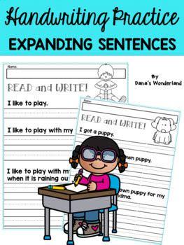 handwriting practice  st grade expanding simple