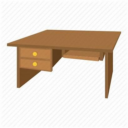 Cartoon Furniture Desk Office Cabinet Interior Wood