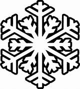 Snowflake Coloring Outline Snowflakes Library Clipart Pages Winter sketch template