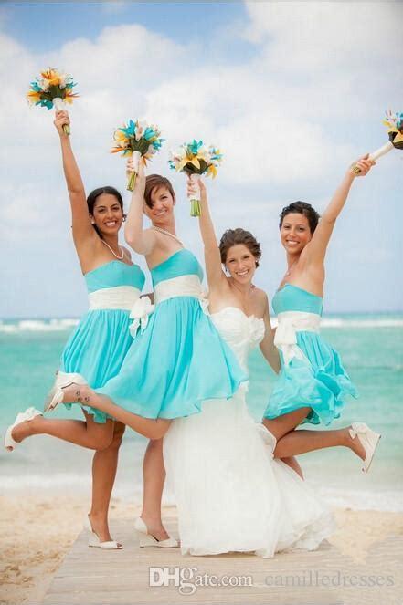 2016 turquoise cheap chiffon bridesmaid dresses short