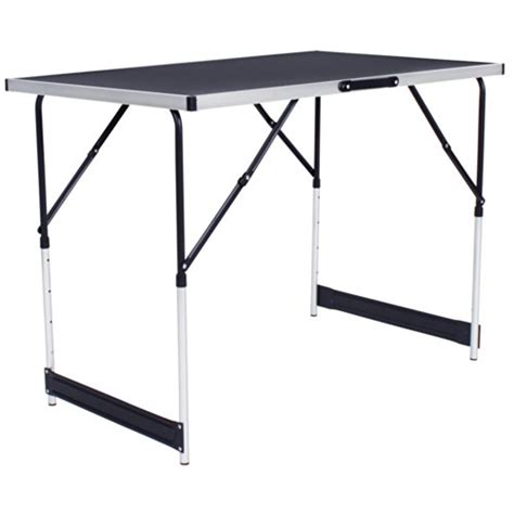 tectake tables 224 tapisser en aluminium ensemble de 3 tables tr 233 teaux table de travail 300x60cm