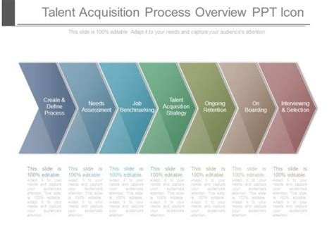 talent acquisition process overview  icon powerpoint
