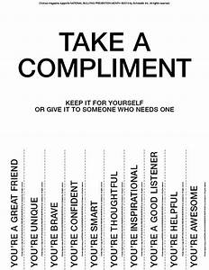 take a compliment give a compliment printable middle With take what you need template