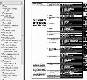 Nissan Xterra Model N50 Series 2011 Service Manual Pdf
