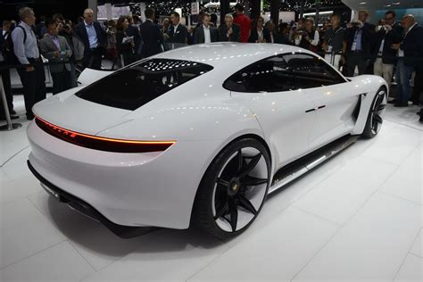 porsche electric porsche stuns frankfurt with all electric mission e sports