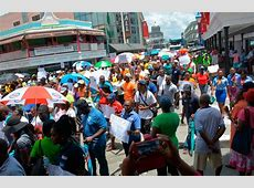 Barbadians march in tax protest Caribbean Life