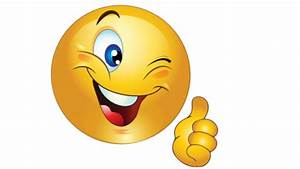 Smiley Face With Thumbs Up Cartoon - Weeklyimage Free ...