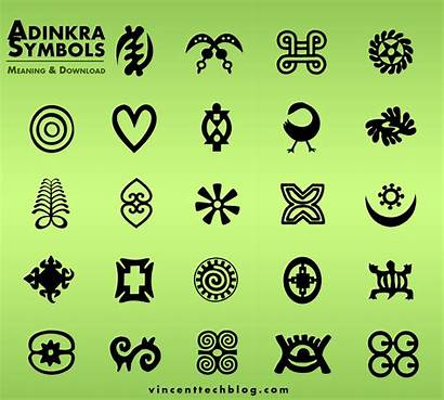 Symbols Adinkra Shapes Ghanaian Famous Brushes