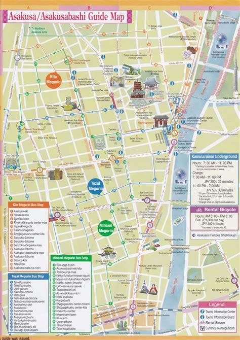 map  asakusa asakusabashi tokyo japan ttt brochure rack