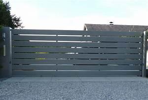 Vial Portillon Fer : portail coulissant bois prix portail ~ Premium-room.com Idées de Décoration