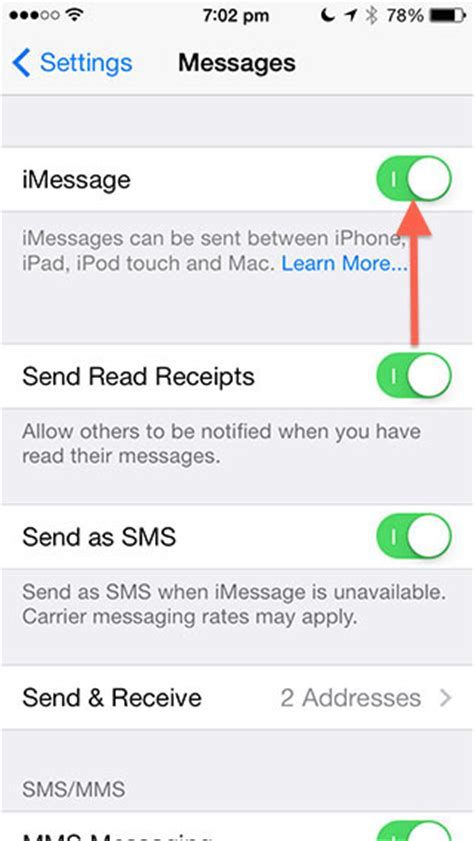 how to turn on imessage on iphone how to fix imessage issue if you re not getting text