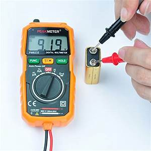 Digital Multimeter  Peakmeter Pm8232 Mini Auto Ranging