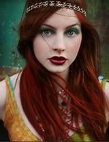Redhead green eyes irish