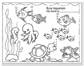 fish tank coloring pages coloring page fish tank fish - Aquarium Coloring Pages Printable
