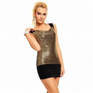robe tunique noire les tendances de la mode francaise de With robe noir et or