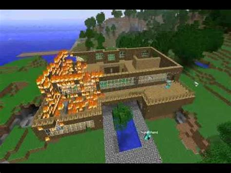minecraft house fire youtube