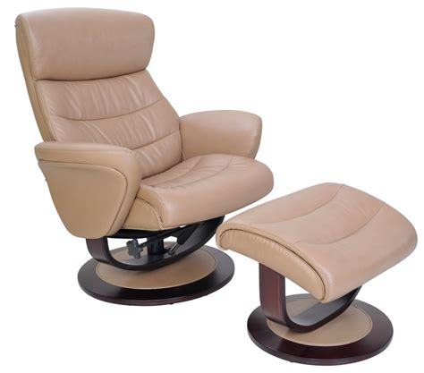 Affordable Ergonomic Living Room Chairs by Barcalounger 8018 Tetra Ii Leather Swivel Recliner And