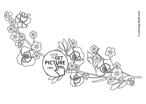 Cute Little Flowers Coloring Pages For Kids, Printable