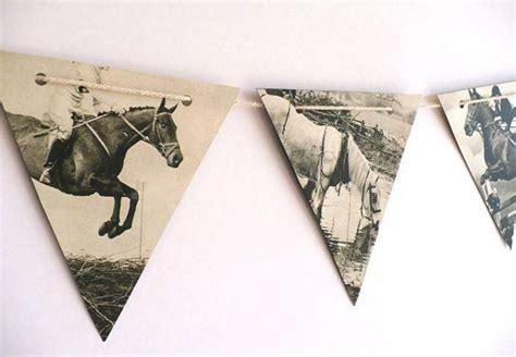 horses decoration vintage paper bunting handmade