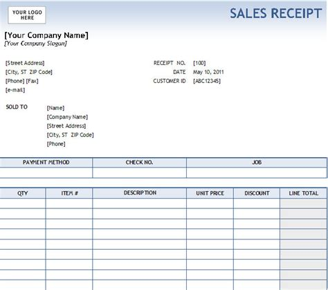 gold sale purchase receipt template excel microsoft