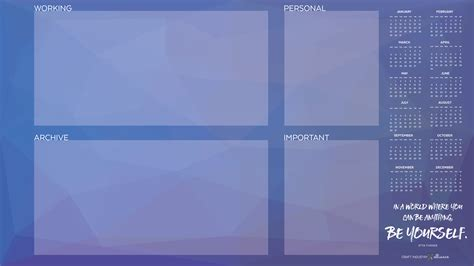 Organize Your Desktop With This Helpful Computer Wallpaper