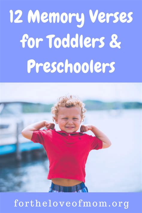 12 memory verses for toddlers and preschoolers for the 920 | 12 Memory Verses that are easy for young kids%2C toddlers %26 preschoolers%2C to memorize%21 %23christianparenting %23toddlers %23preschoolers %23kidmin For the Love of Mom Blog fortheloveofmom