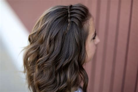 waterfall braids cute girls hairstyles