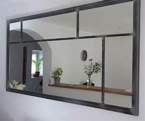 Grand Miroir Industriel : miroir en m tal noir h 180 cm metal mirror indian bedroom ~ Melissatoandfro.com Idées de Décoration