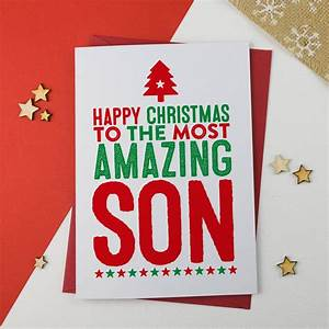 Amazing Son Christmas Card By A Is For Alphabet