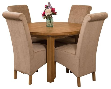 Table Chairs Edmonton by Edmonton Solid Oak Extending Oval Dining Table With 4