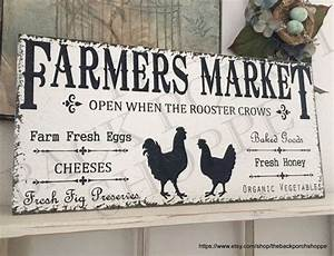 farmers market signs kitchen signs chicken and rooster