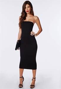 black strapless bodycon dress dress ty