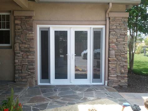 garage door converted  french door   side