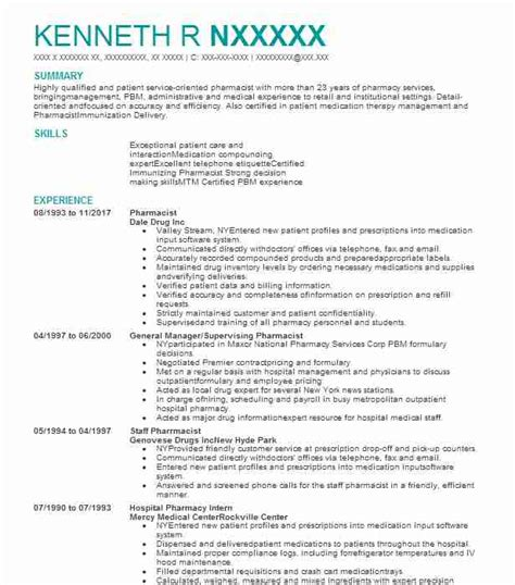 Objective For Pharmacist Resume by Pharmacist Objectives Resume Objective Livecareer