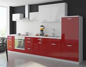 Küche Rot Hochglanz : k che color 340 cm k chenzeile k chenblock einbauk che in hochglanz rot weiss k chen ~ Yasmunasinghe.com Haus und Dekorationen