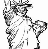 Statue Liberty Coloring Pages Getdrawings sketch template