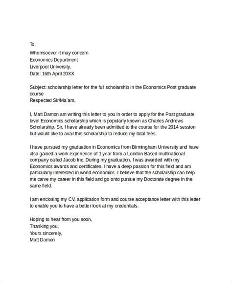 10 sle scholarship application letters pdf doc